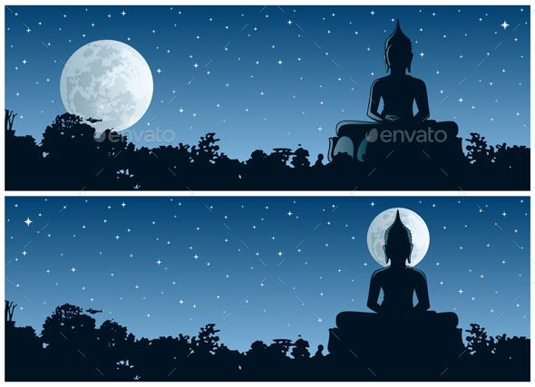 GraphicRiver Buddha Night 10801932