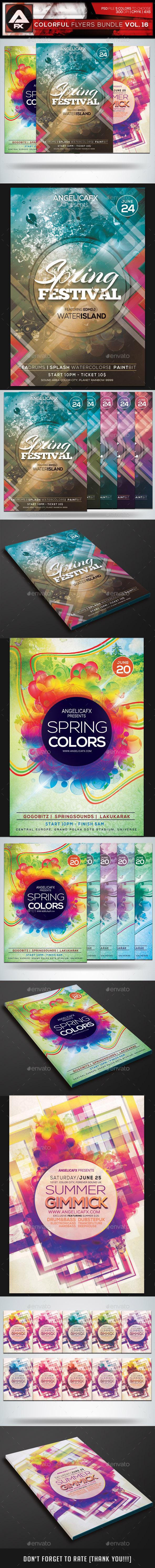 GraphicRiver Colorful Flyers Bundle Vol.16 10801962