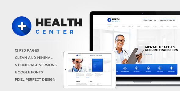 ThemeForest Helth Center PSD 10802254