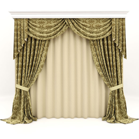 curtains classic - 3DOcean Item for Sale
