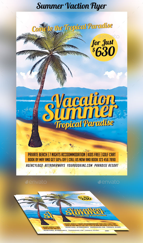 GraphicRiver Summer Vacation Flyer 10802295