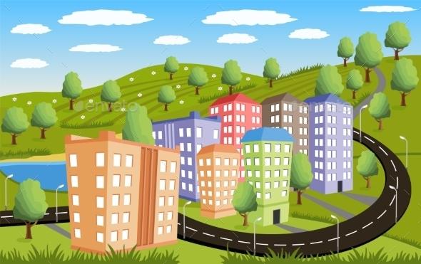 GraphicRiver Rural Landscape 10802375