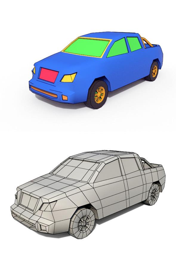 3DOcean Low Poly Cartoon Car 4 10802564