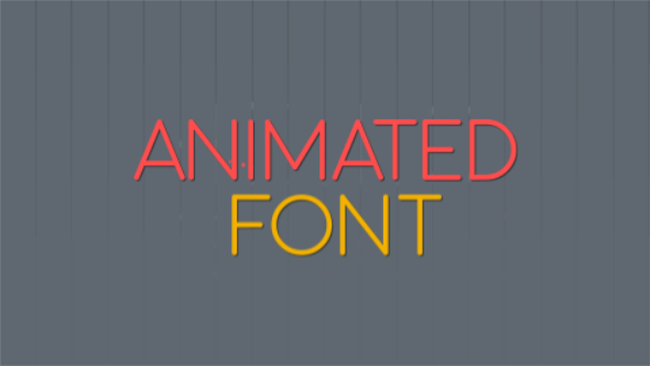 Balls Animated Font