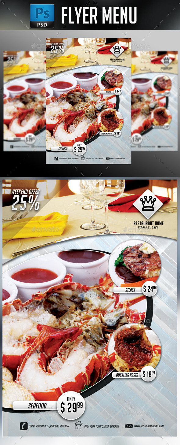 GraphicRiver Restaurant Flyer 10802915