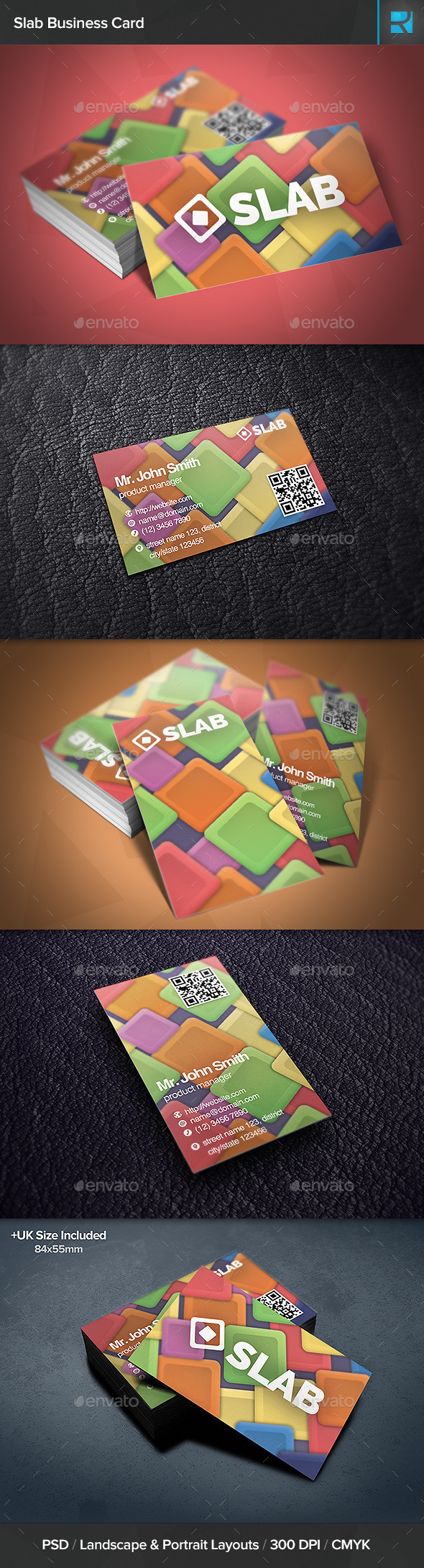 GraphicRiver Slab Business Card 10802924