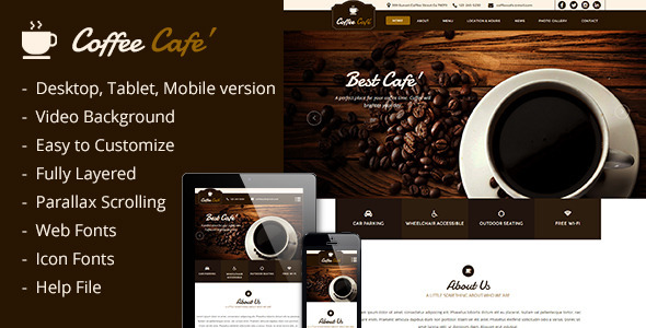 ThemeForest Coffee Cafe Template 10748487