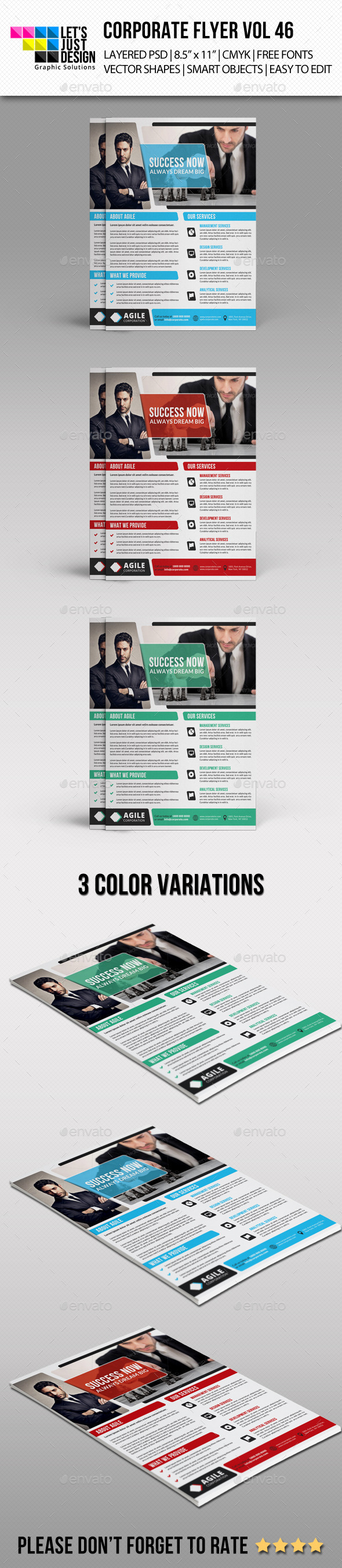 GraphicRiver Corporate Flyer Template Vol 46 10803091