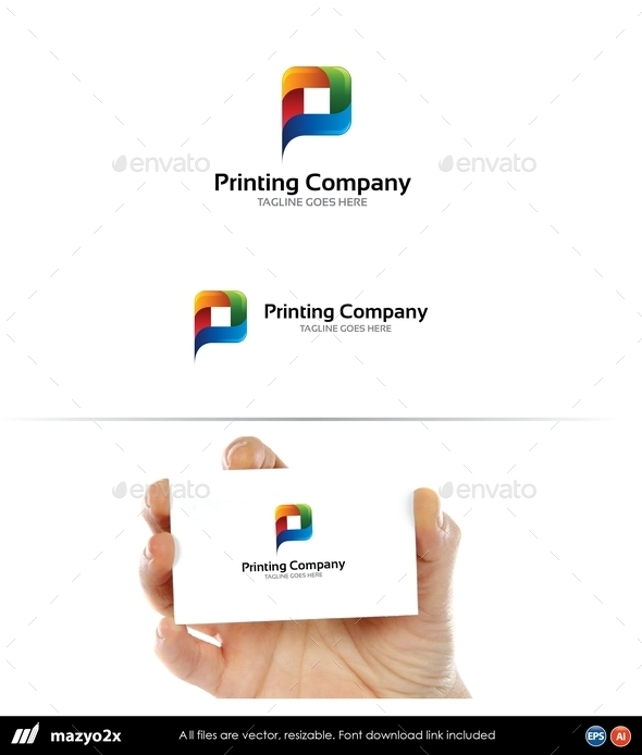 GraphicRiver Letter P Printing Media 10803267
