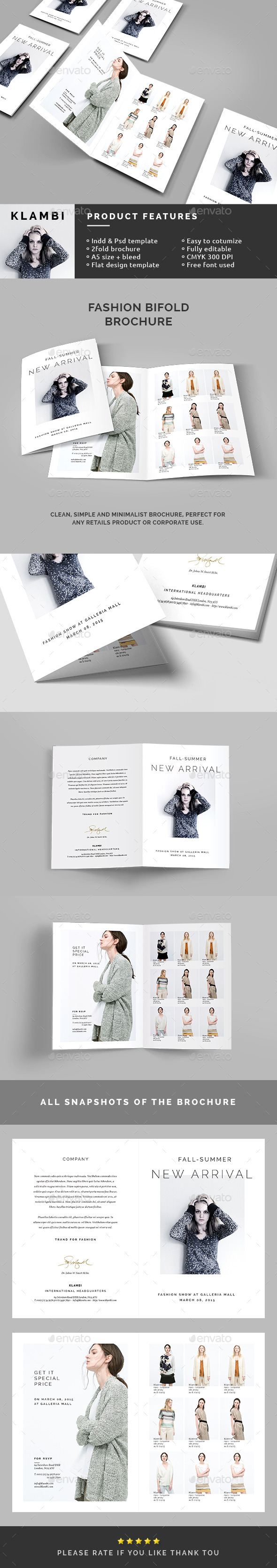 GraphicRiver Fashion Bifold Brochure 10803271