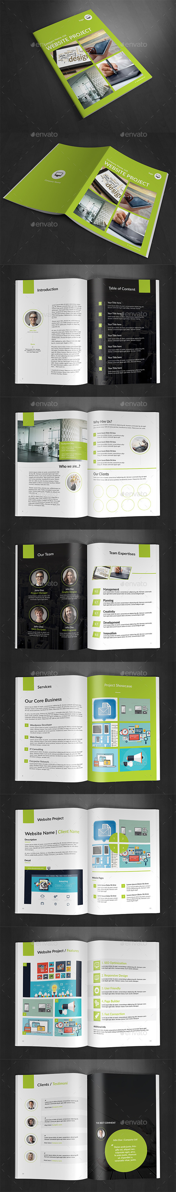 GraphicRiver Website Portfolio Brochure 10803297