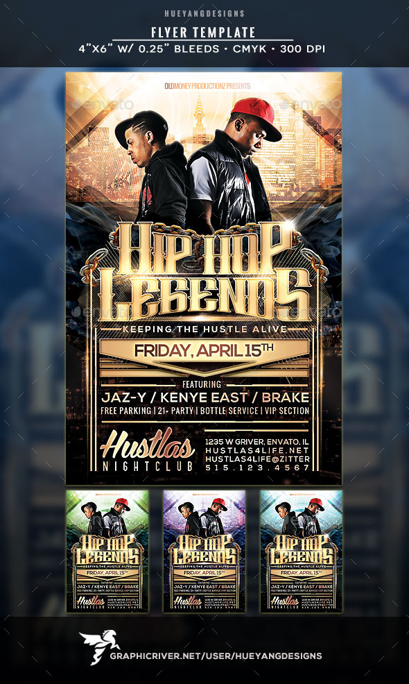 GraphicRiver Hip Hop Legends Flyer 10803326
