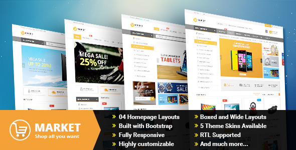 ThemeForest Market Responsive Multipurpose Prestashop Theme 10803331