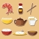 Set of Chinese Cuisine Stickers - GraphicRiver Item for Sale
