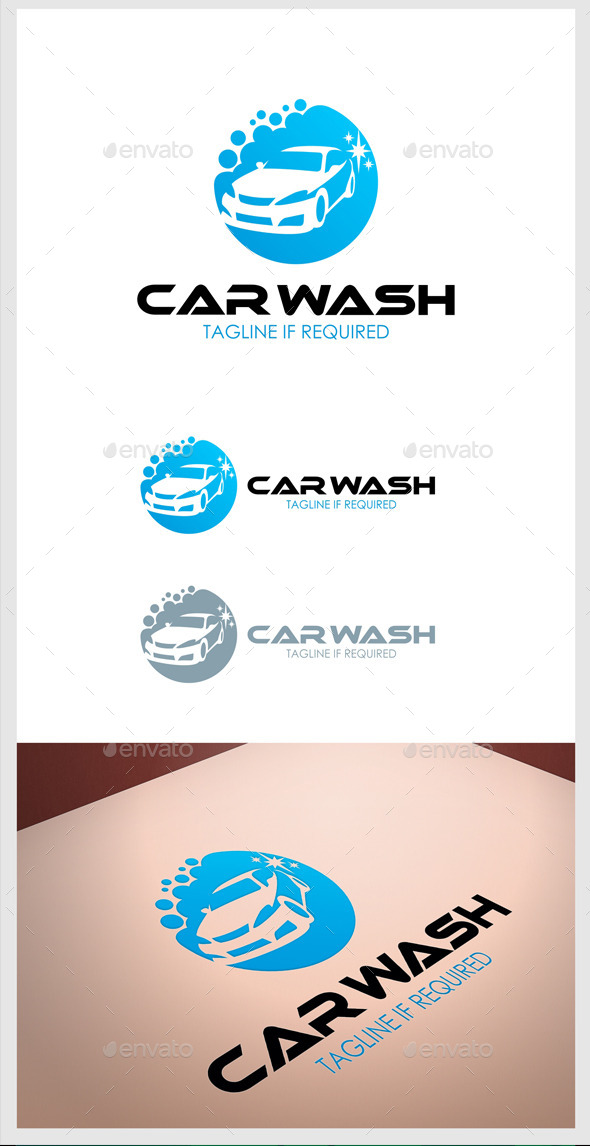 GraphicRiver Car wash Logo 10748427