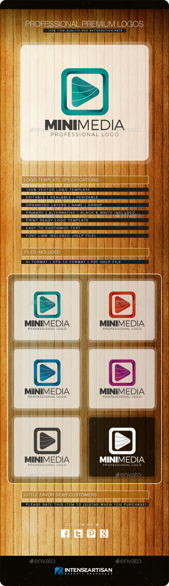 GraphicRiver Mini Media Logo Template 10803450
