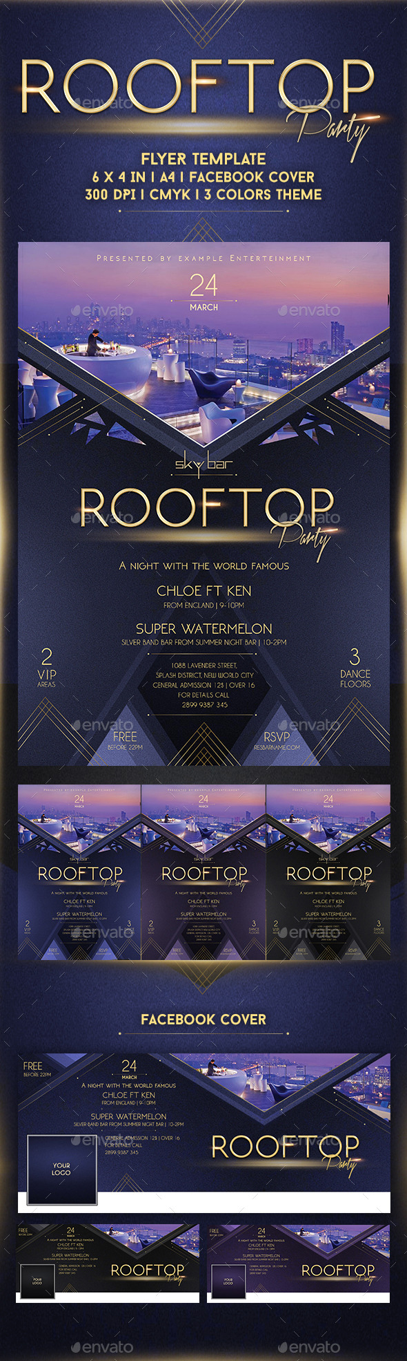 GraphicRiver Rooftop Party Flyer Template 10747669