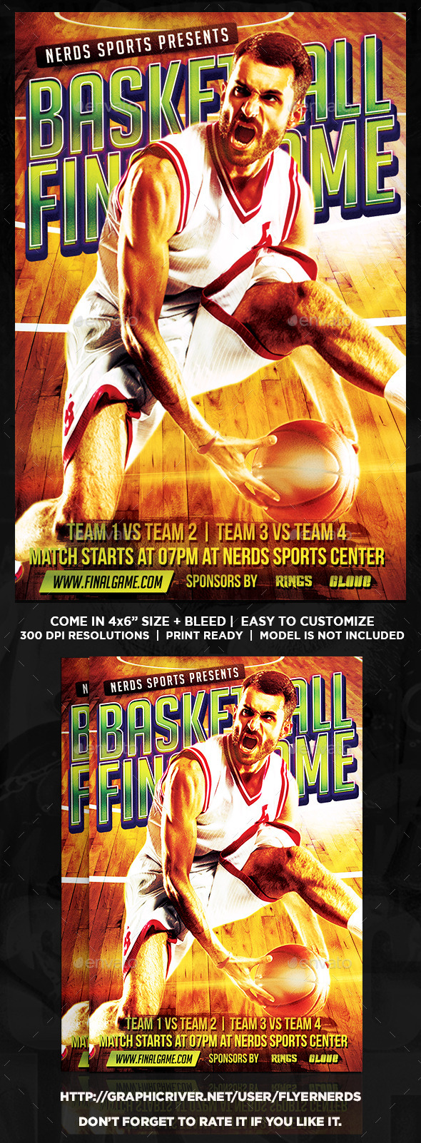 GraphicRiver Basketball Game Sports Flyer 10803615