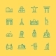 World Sights Icons - GraphicRiver Item for Sale