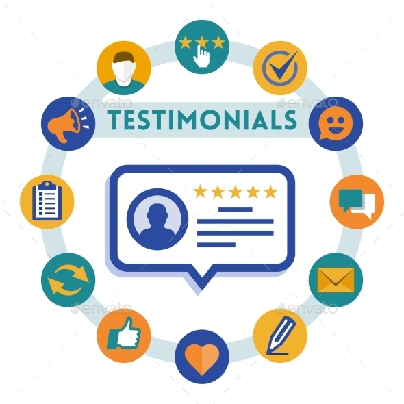 GraphicRiver Customer Service and Testimonials Infographic 10803697