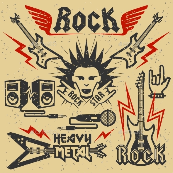 GraphicRiver Rock Music and Heavy Metal Graphics 10803701
