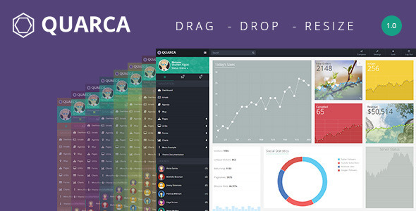 ThemeForest Quarca Bootstrap Admin Template 10759693