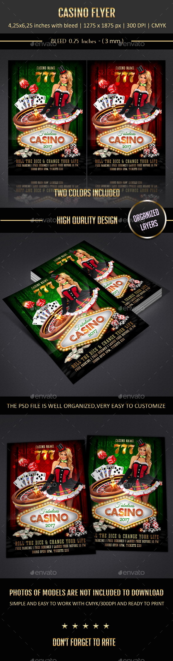 GraphicRiver Casino Flyer 10803756