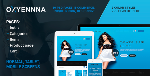 ThemeForest OXUENNNA PSD e-commerce template 10740019