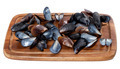 Shells of mussels on wooden board - PhotoDune Item for Sale