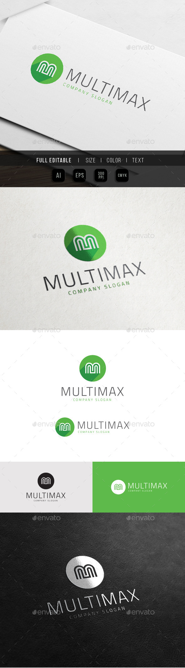 GraphicRiver Multimedia Max App Letter M 10803834