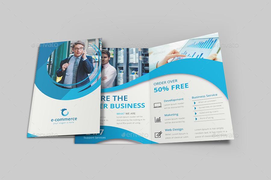 e commerce business bi fold brochure by dotnpix graphicriver. Black Bedroom Furniture Sets. Home Design Ideas