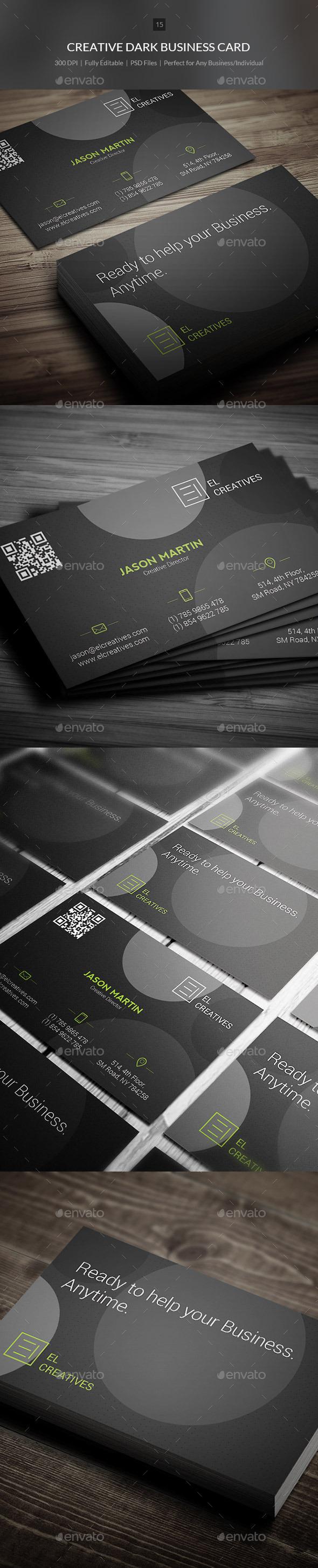 GraphicRiver Creative Dark Business Card 15 10803887
