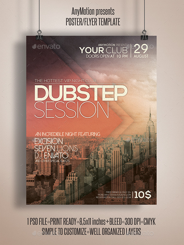 GraphicRiver Dubstep Session Flyer 10804067