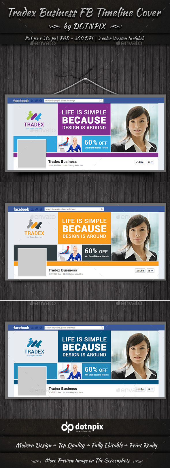 GraphicRiver Tradex Business FB Timeline 10804125