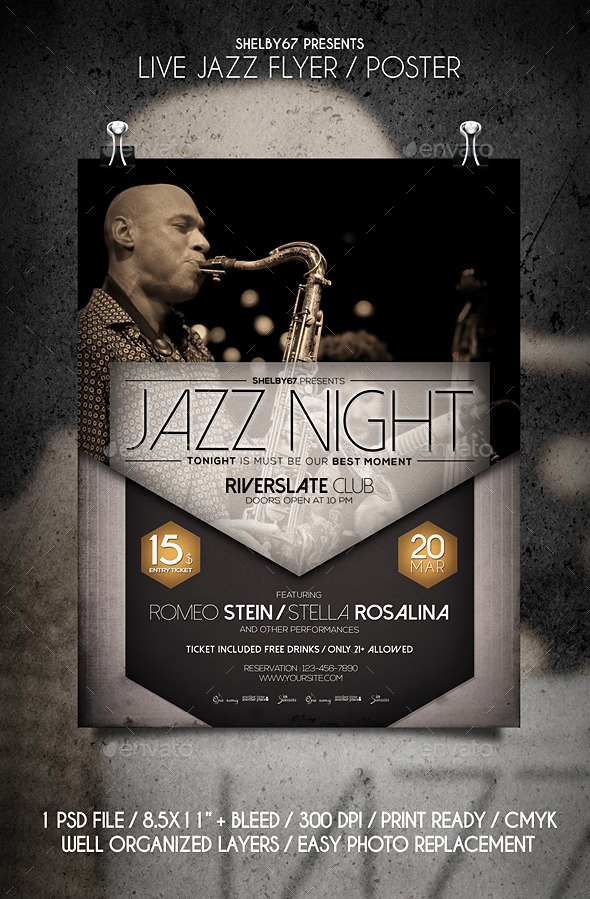 GraphicRiver Live Jazz Flyer Poster 10804130