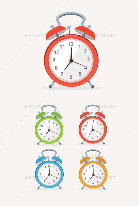 GraphicRiver Alarm Clocks 10804322