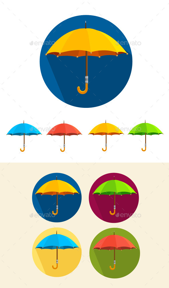 GraphicRiver Umbrella Set 10804769