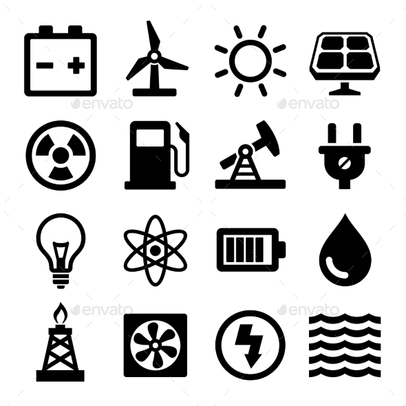 GraphicRiver Energy Icons Set 10804955