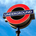 London Underground Sign against Blue Sky - PhotoDune Item for Sale