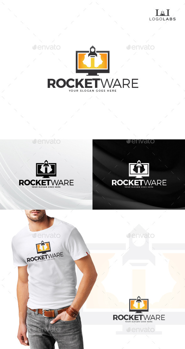 GraphicRiver Rocket Ware Logo 10805279
