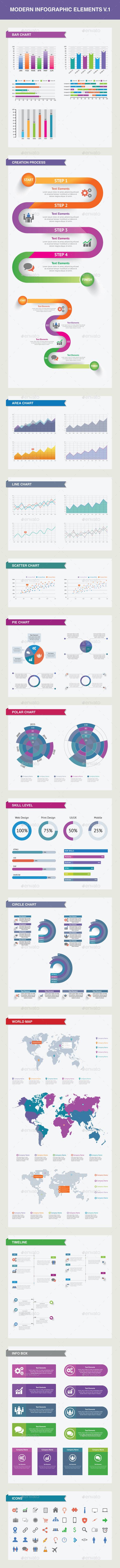 Modern Infographic Elements V.1