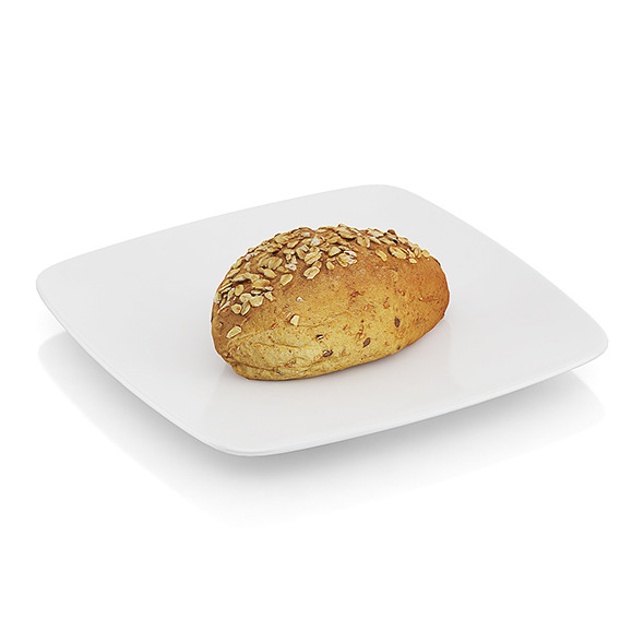 Wholegrain roll - 3DOcean Item for Sale
