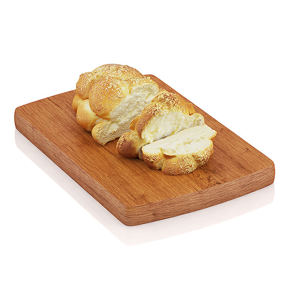 3DOcean Sliced challah bread 10805447