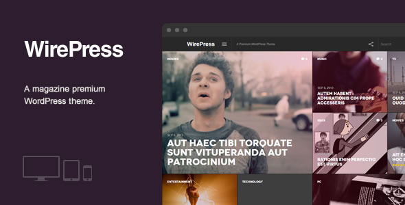 WirePress - Magazine & Blog WordPress  Theme - News / Editorial Blog / Magazine