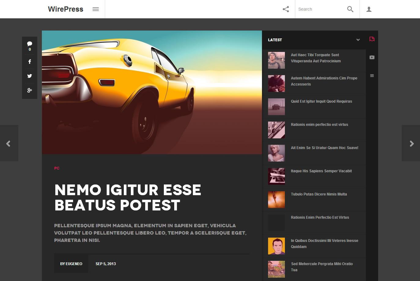 WirePress - Magazine & Blog WordPress  Theme