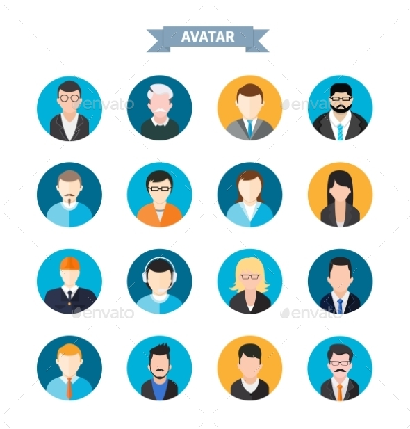 GraphicRiver Set of Avatars Icons 10805833