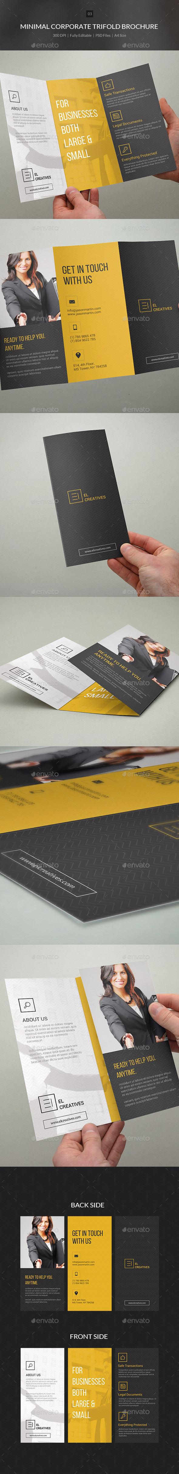 GraphicRiver Minimal Corporate Trifold Brochure 03 10805837