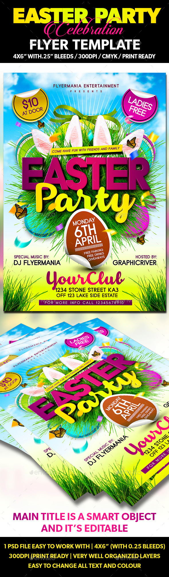 GraphicRiver Easter Party Flyer Template 10806150