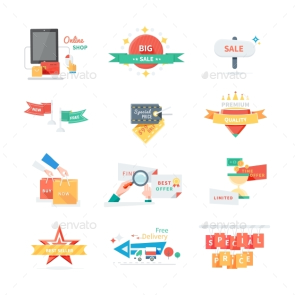GraphicRiver Set of Sticker Labels 10806258
