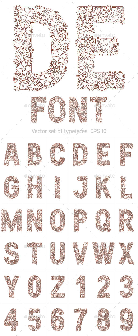 GraphicRiver Alphabet Gear 10806326